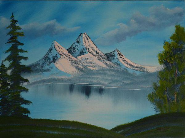 bob ross mountain landscape 85945 painting - Bob Ross Mountain Landscape 85945 Painting Painting Pinterest