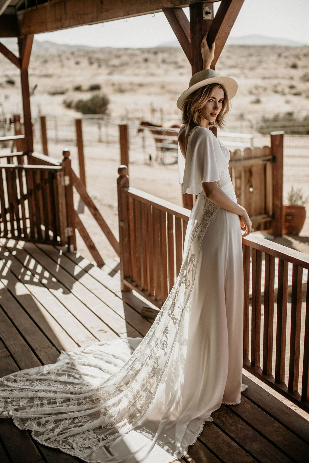 Hayley Romantic Bohemian Wedding Dress   Bridal dress shops ...