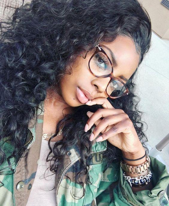 Glasses Frames Nerdyglasses Nerdygirlasses Eyewear Eyeglasses Curly Hair Styles Human Hair Wigs Weave Hairstyles