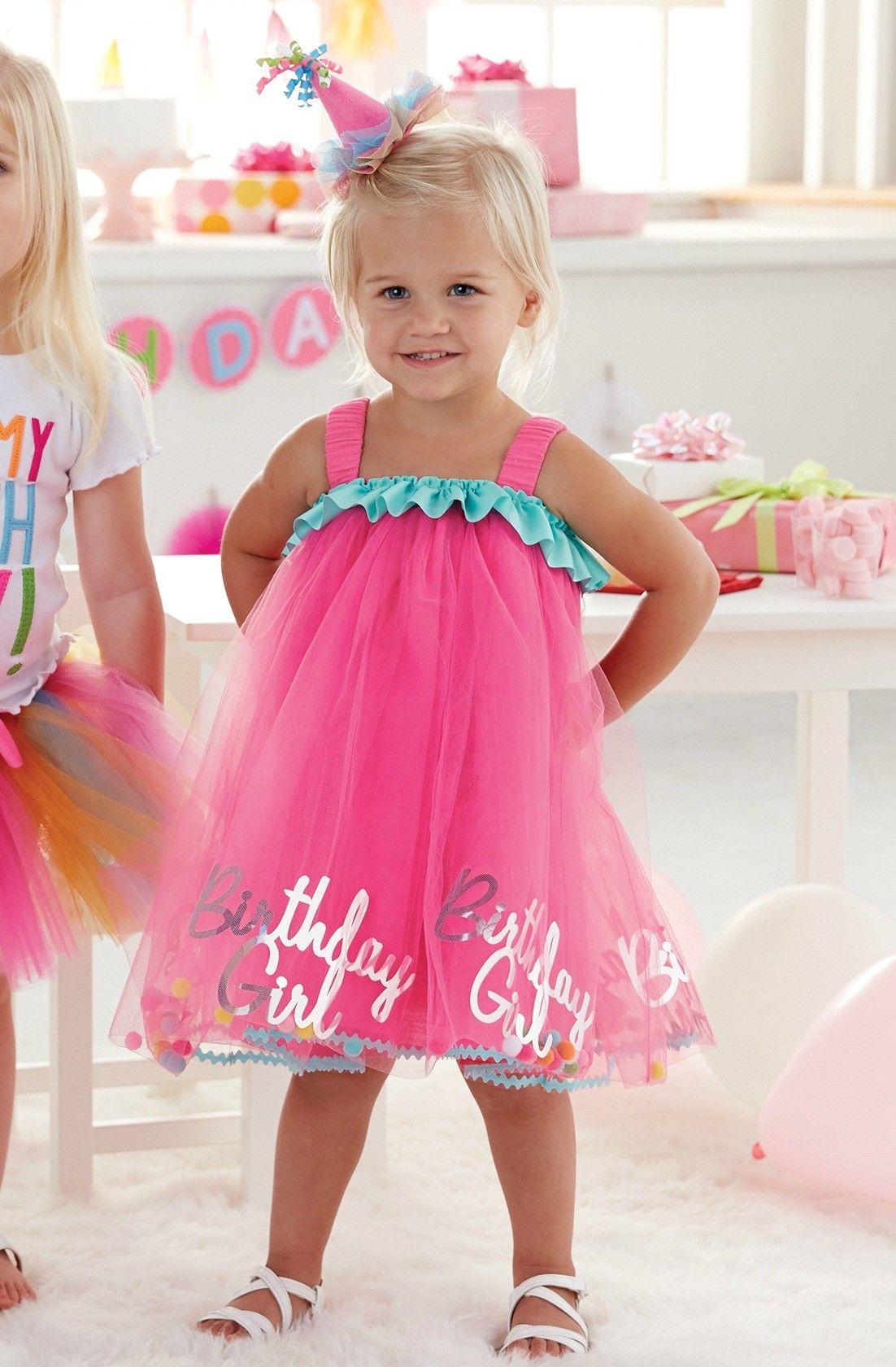Birthday Girl Tulle Dress By Mud Pie