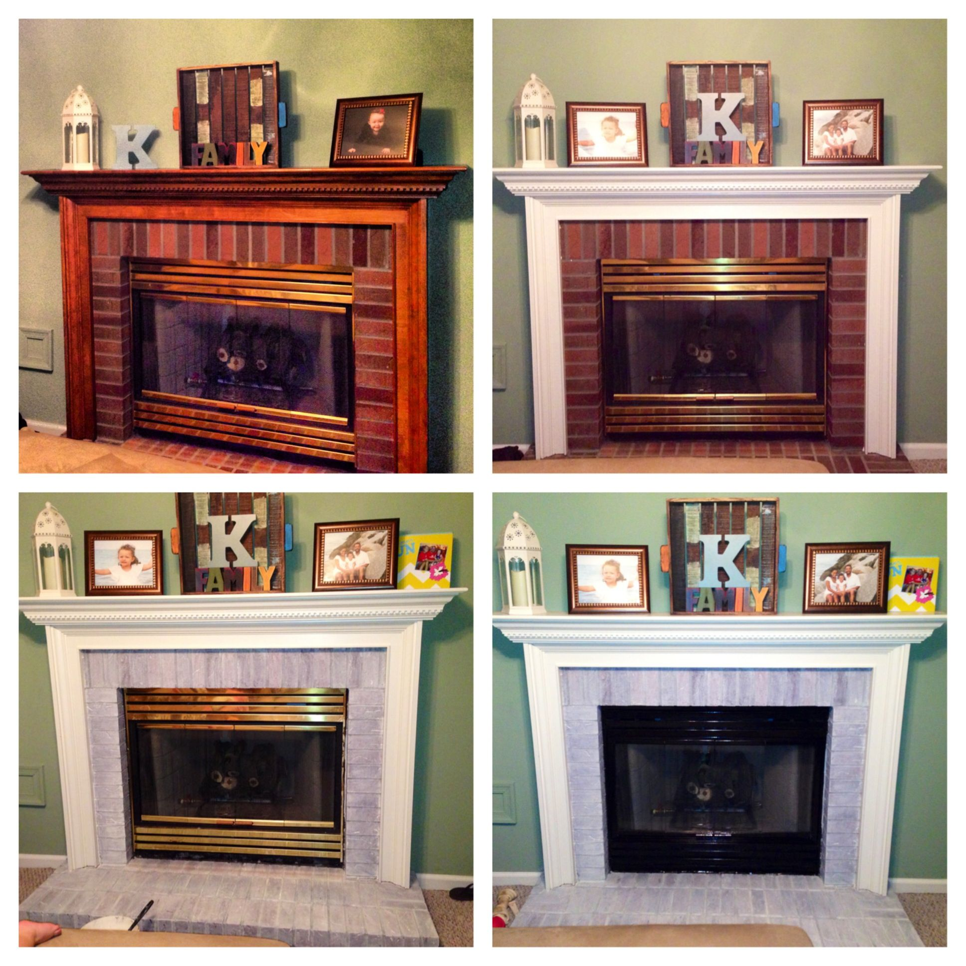 turn your fireplace from drab to fab paint mantle white