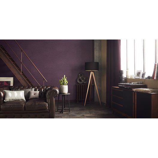 papier_peint_uni_feuille__violet deco Pinterest