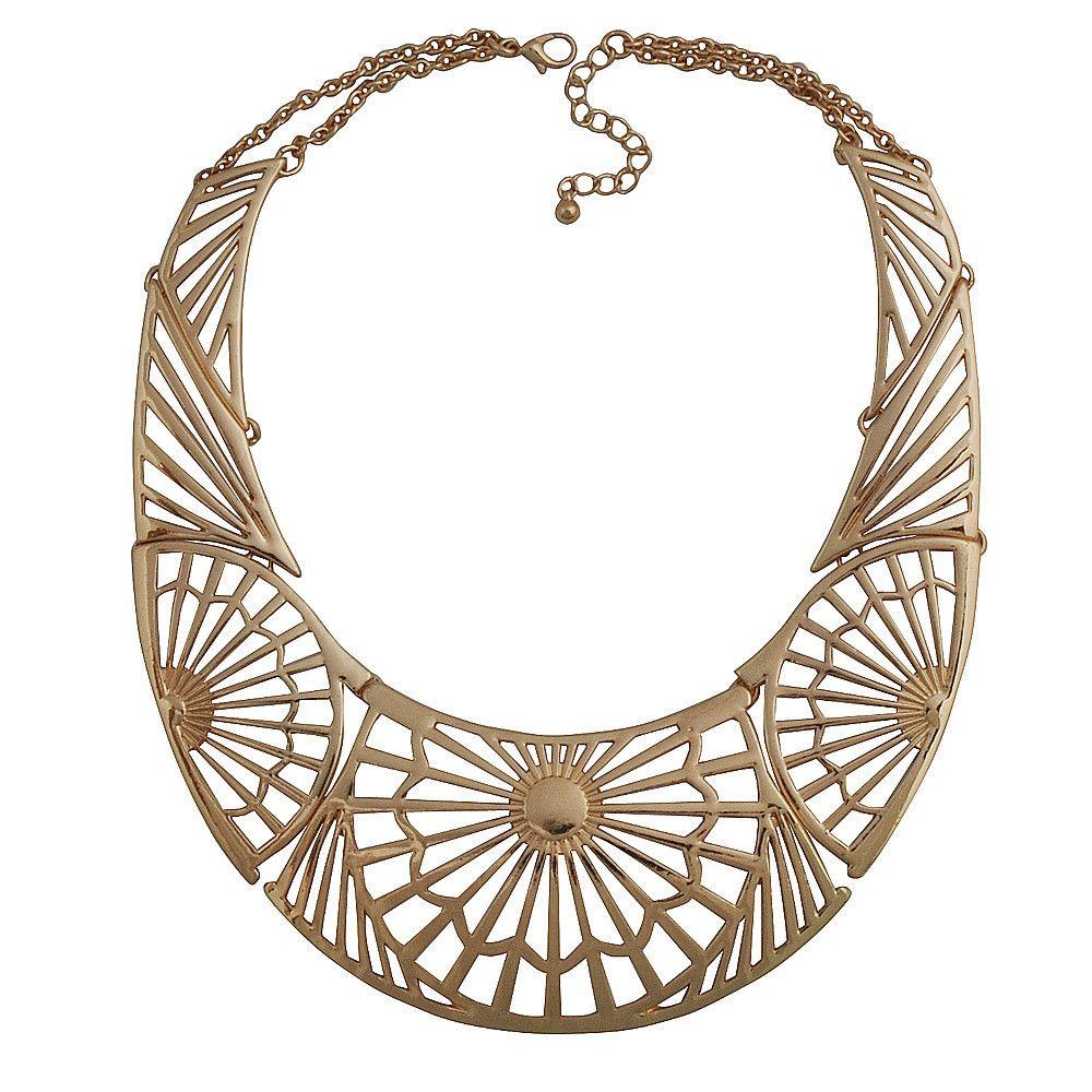 New Fashion Golden Necklace Choker Bib Necklaces Exaggerated Necklace – Jane Stone 21
