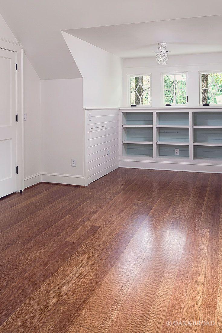Elegant white oak floor in atlanta home renovation white for Hardwood floors atlanta