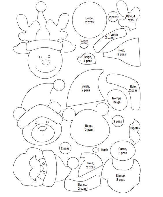 Patrones Dibujos De Navidad En Foami.Manualidades Navidenas Paso A Paso Como Hacer Decoraciones