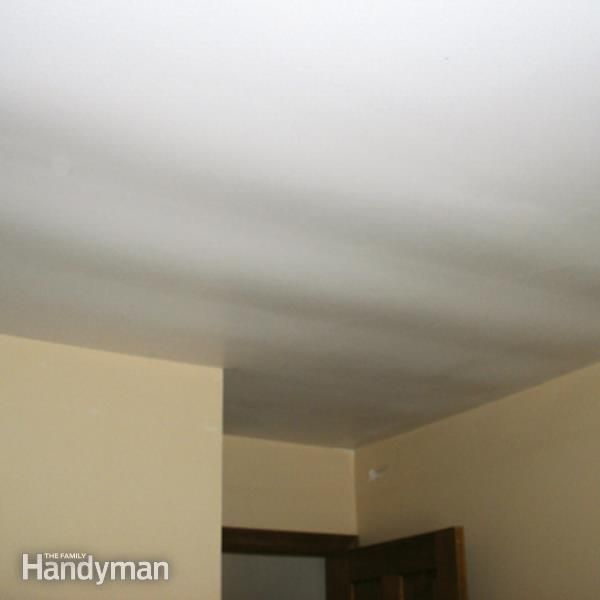 Sagging In A Ceiling May Be Caused By Undersized Drywall You Either Have To Replace 1 2 In Drywall With 5 8 In Home Repairs Diy Home Repair Drywall Ceiling