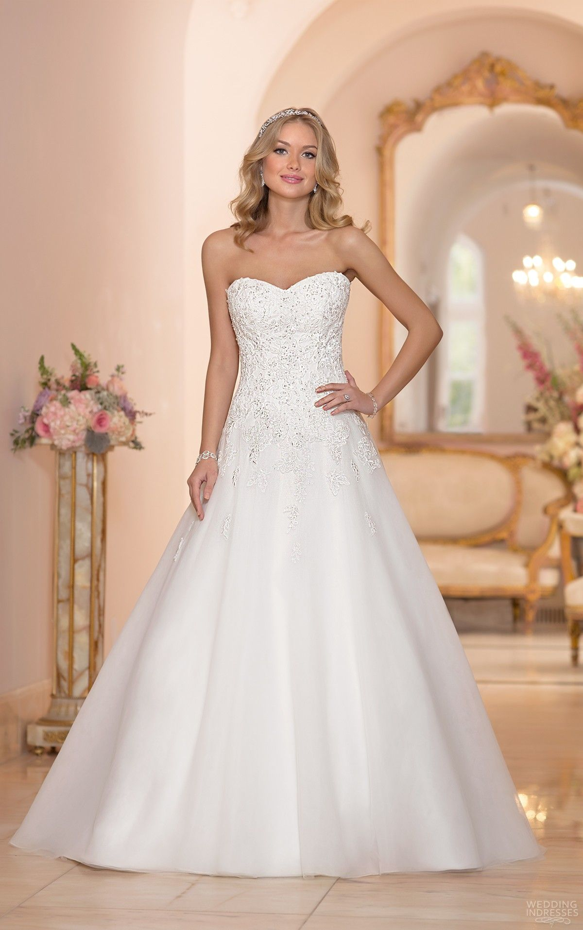 Lace A Line Sweetheart Wedding Dress Google Search