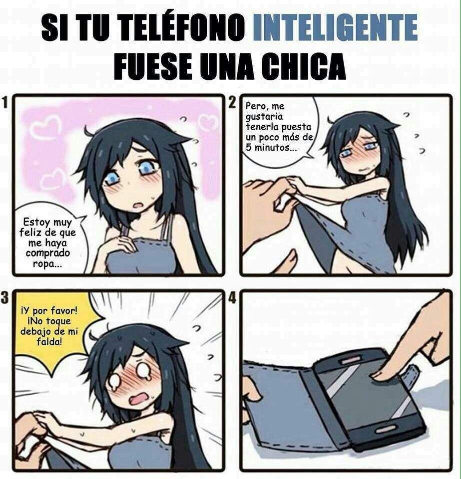 Si tu telefono celular fuera una chica | Anime Amino