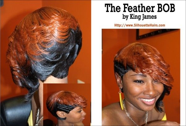 African American Feathered Hairstyles