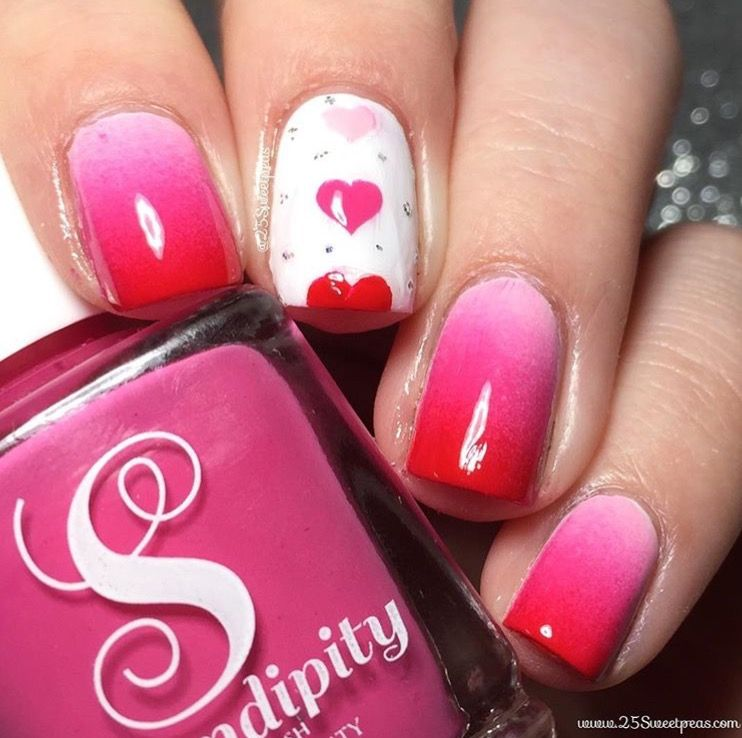 In Love With This Gorgeous Grant Mani By 25sweetpeas Using Our Triple Heart Nail Stencils Found At Snailvinyls And Serendipitypolish