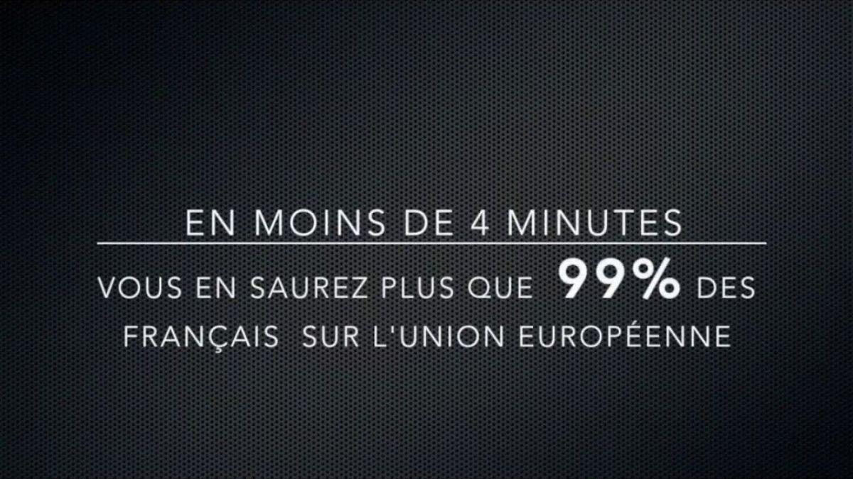 En moins de 4 mn, vous en saurez plus que 99 des français