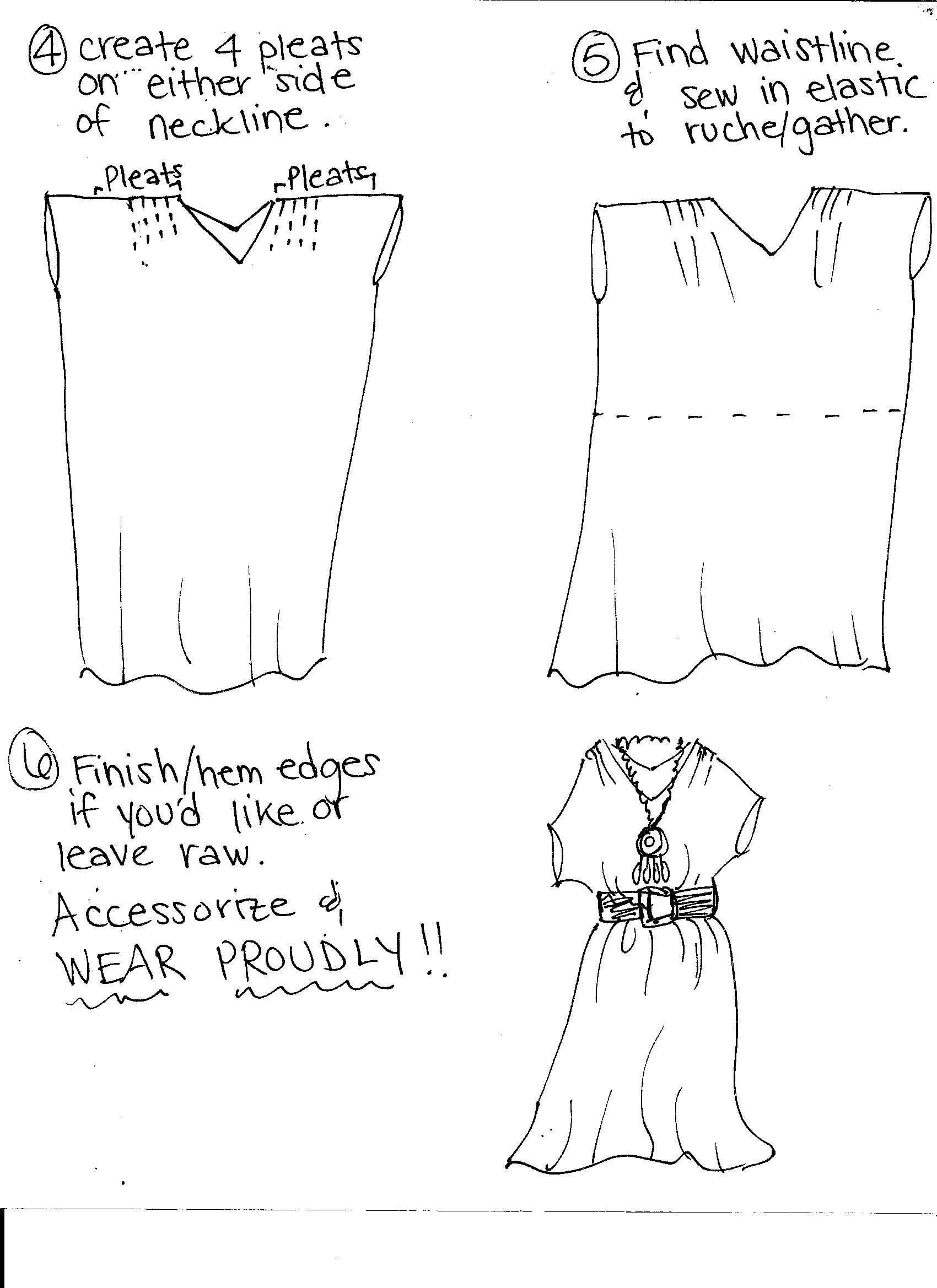 2 Mtr White Shirred stretch dress fabric