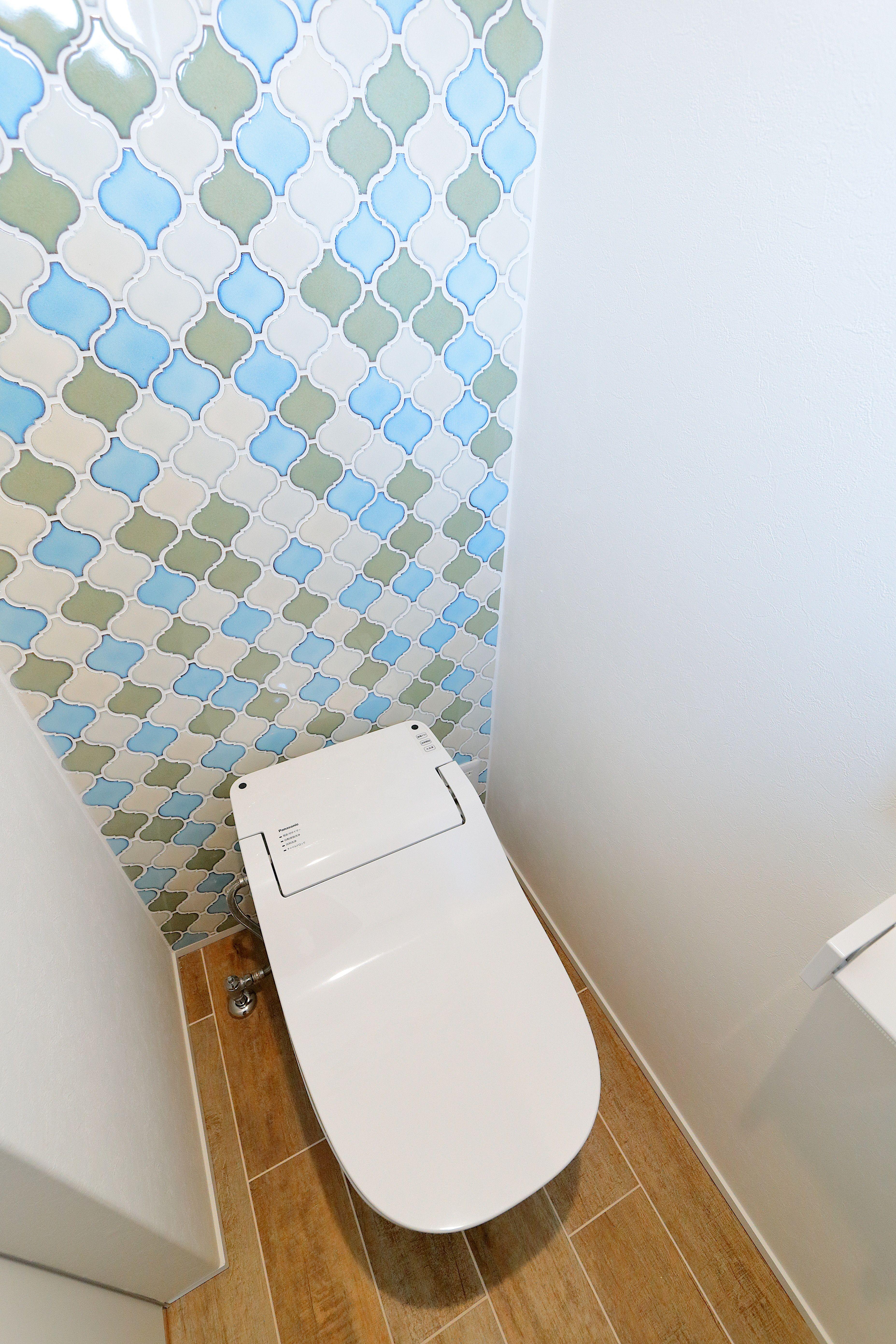 ジェネシスの施工事例 府中市にある コバコノイエ の施工写真集 トイレ モロッカンタイル サンワカンパニー ジェネシス モロッカン トイレ