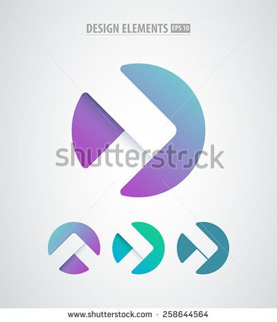 Vector abstract arrows icon. Modern design elements isolated on ...