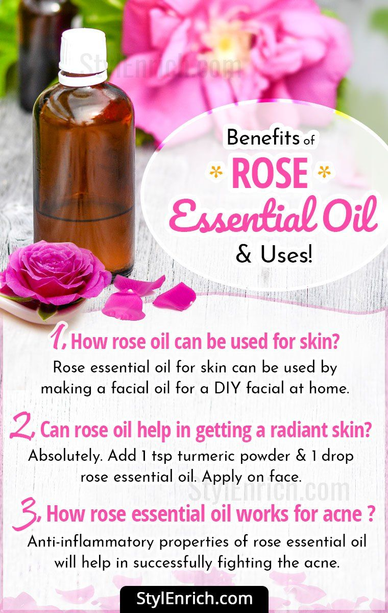 Rose Essential Oil Benefits For Common Health And Skin Problems Rose Essential Oil Rose Essentials Rose Oil Benefits