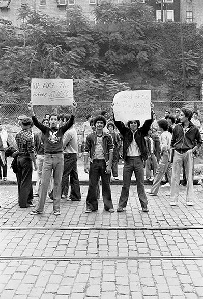 Student protest South Bronx High School 1979 | South Bronx 1960's