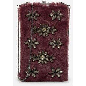 Charles & Keith Furry Embellished Sling Bag FJdCWA
