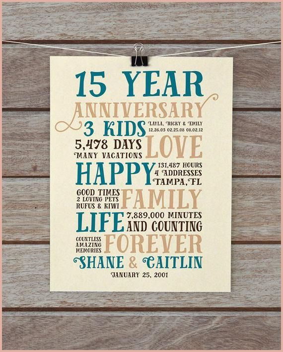 14 Wedding Anniversary Gift Ideas: 14 Stunning 15 Year Wedding Anniversary Gift