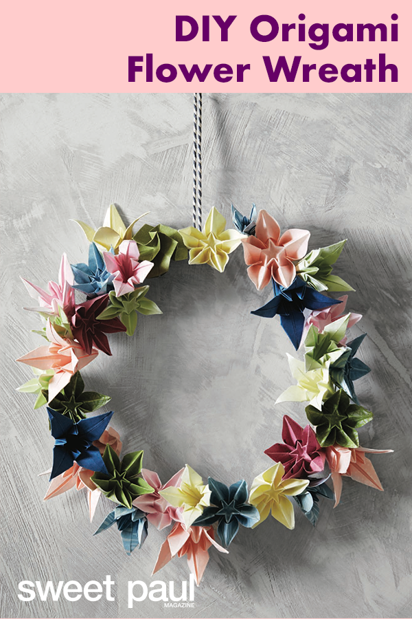 Photo of Origami Flower Wreath | Sweet Paul Magazine
