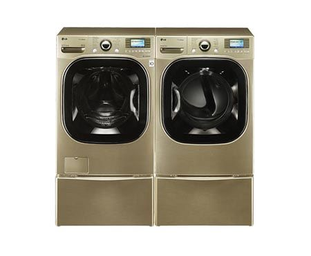 Lg Dlex3885c 7 4 Cu Ft Ultra Large Capacity Steamdryer With Color Lcd Display And Touch Buttons Electric Lg Washer And Dryer Steam Washer Washer And Dryer