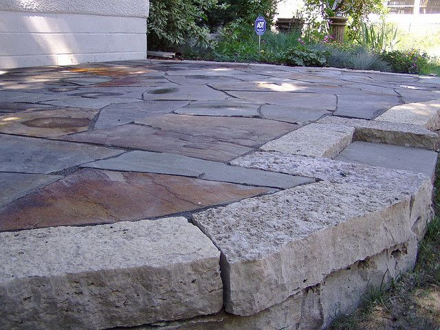 raised flagstone patio | flagstone patio, flagstone and patios - Flagstone Patio Designs