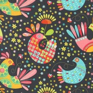 Michael Miller Feathered Flock Stone Sewing Fabric