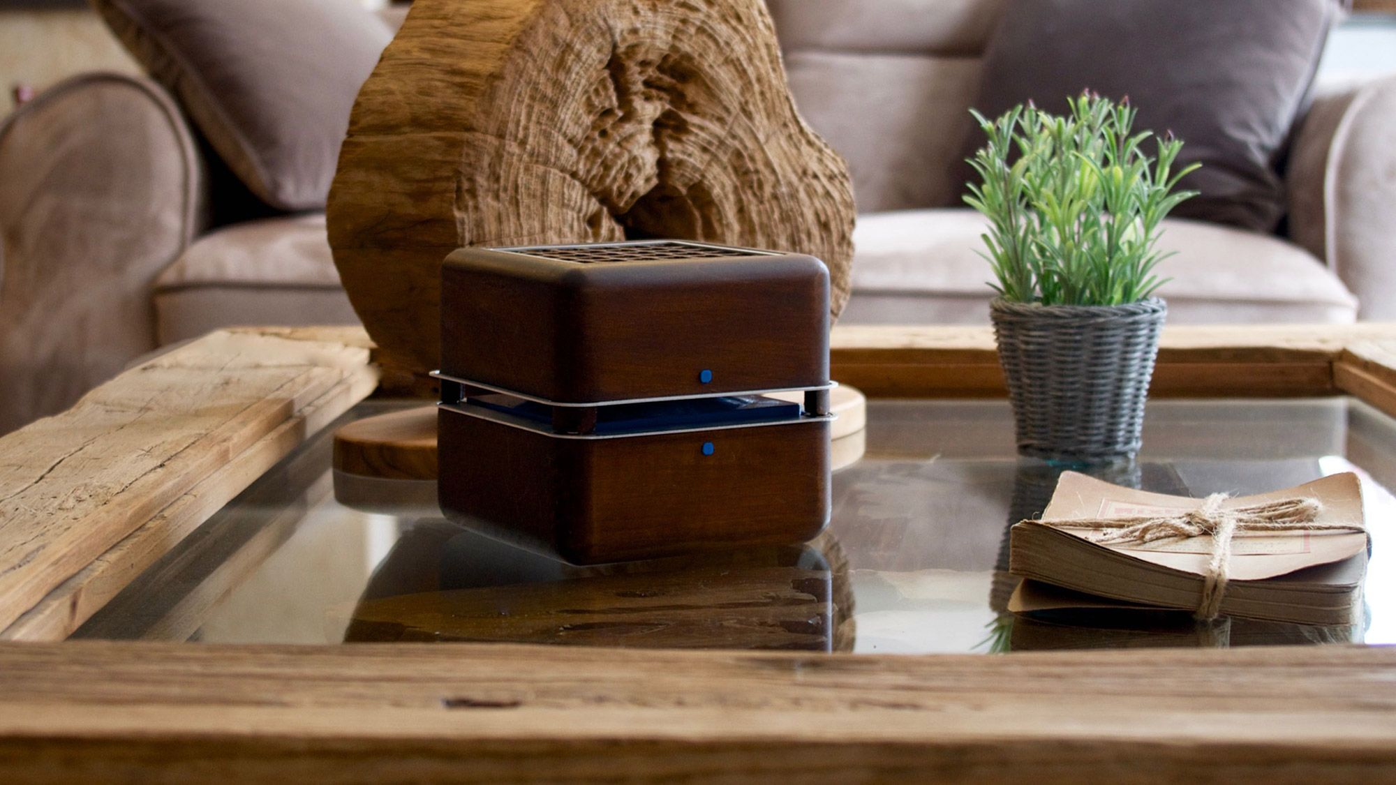 Geizeer Ice Cooling System Freshersmag Portable Air Conditioner Stylish Coffee Table Wooden Cubes