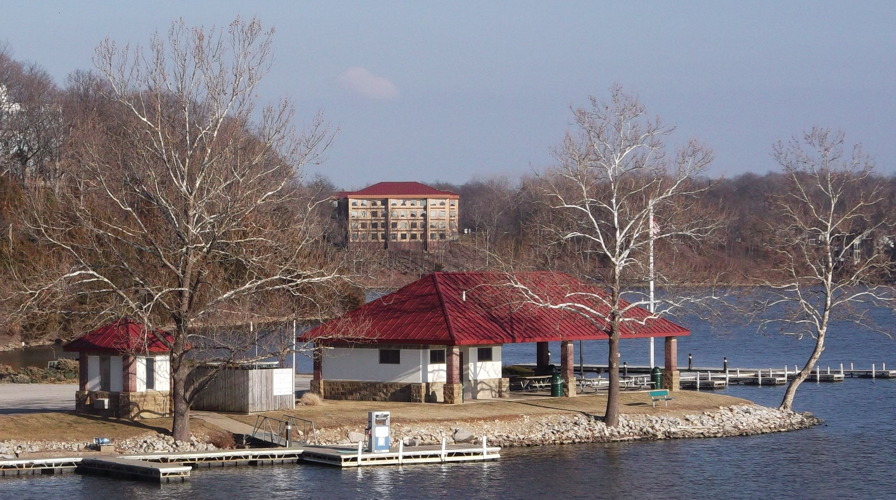 Lake Saint Louis boathouse