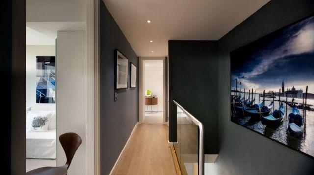 Treppenhaus Wandgestaltung Design-großflächiges Bild Abdruck-Leman ...