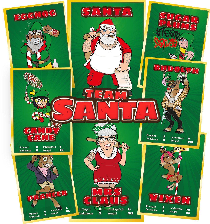 santa vs jesus check out team santa santa claus mrs claus vixen - Santa Claus And Jesus 2