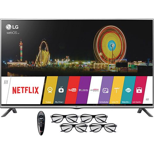 "Submarino Smart TV LED 3D 49"" LG 49lf6450 Full HD com Conversor Digital Integrado 3 HDMI 3 USB Wi-Fi - R$ 2137"