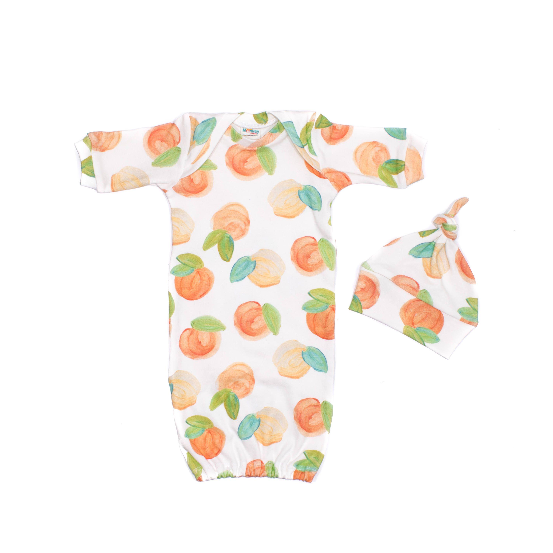Sweet Peach Newborn Gown, Newborn Organic Gown, Georgia Peach ...