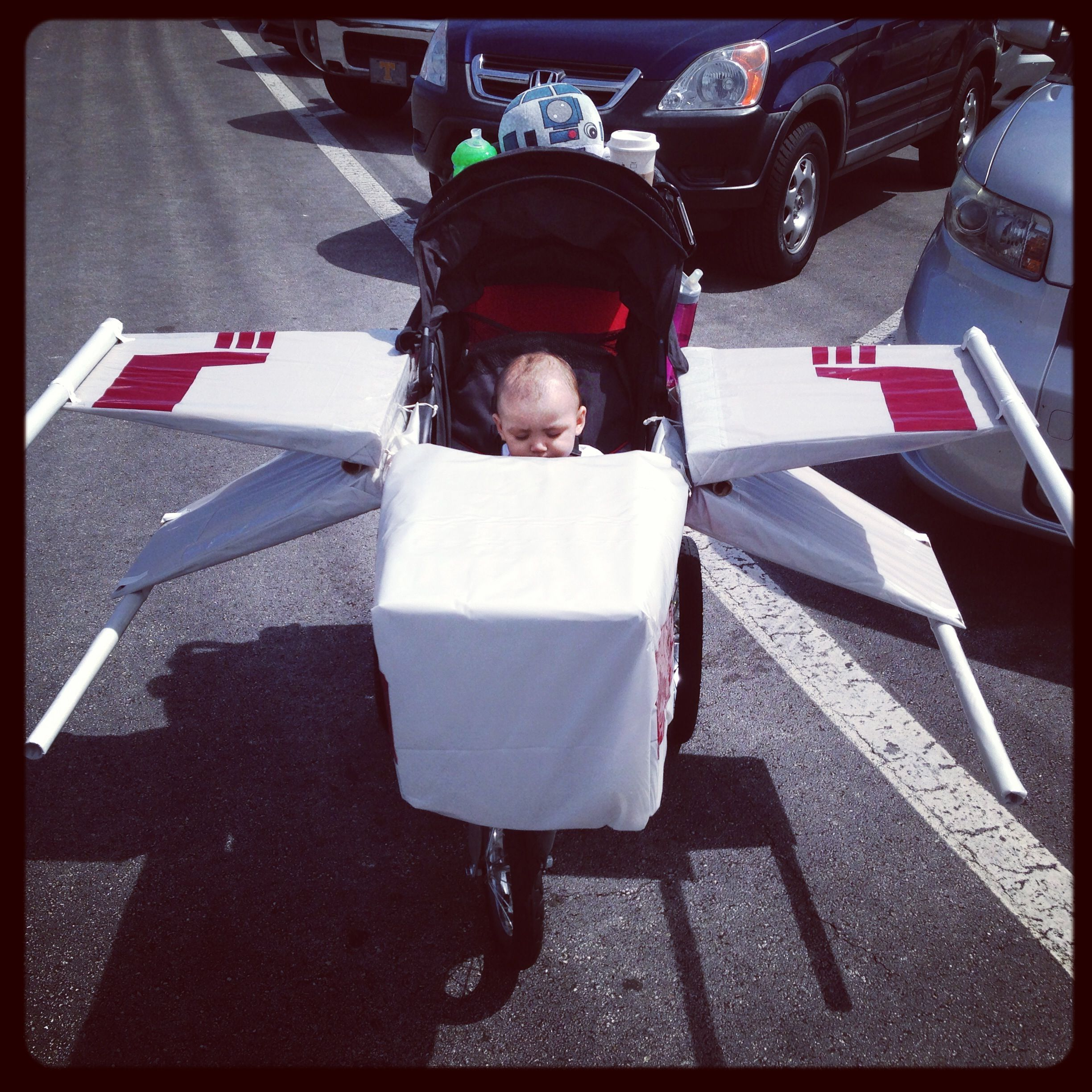 x wing stroller my husband turned our sons stroller into an x wing