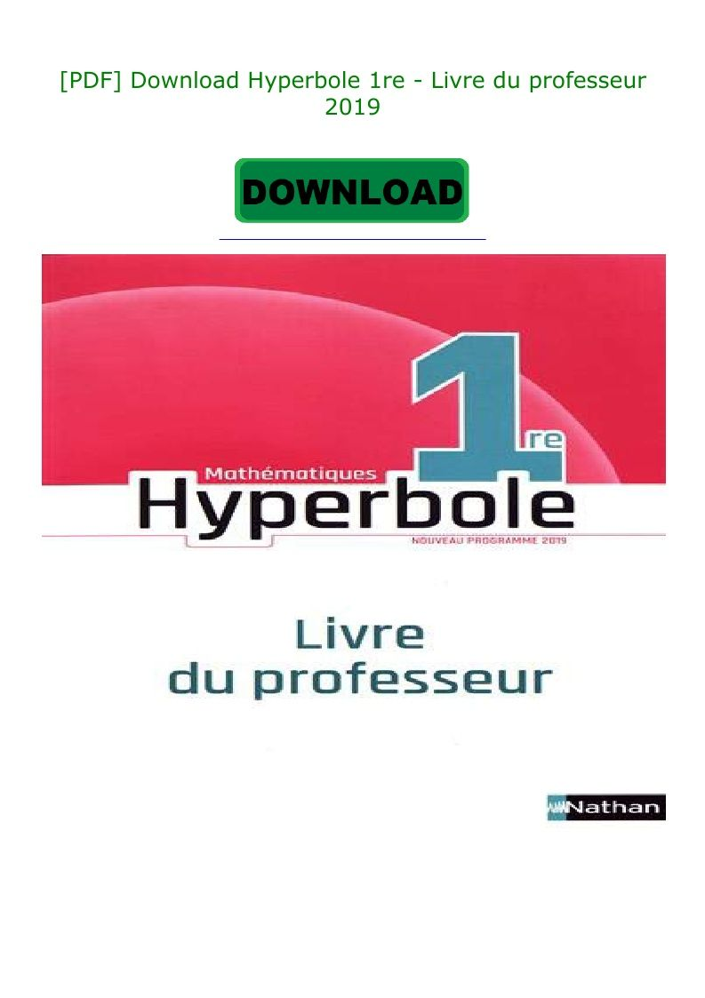 Pdf Download Hyperbole 1re Livre Du Professeur 2019 Incoming Call Screenshot Incoming Call