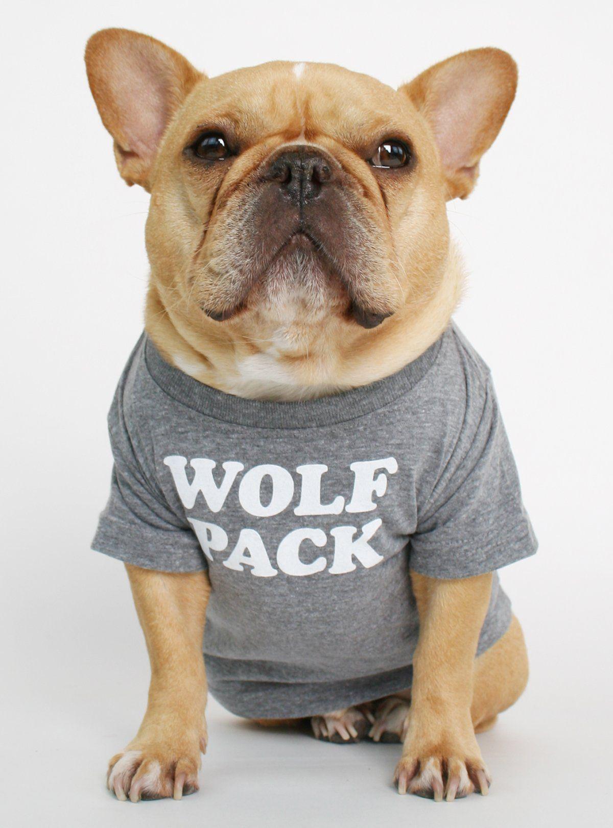WOLF PACK DOG TEE Dog shirt, Dogs tee, Bulldog