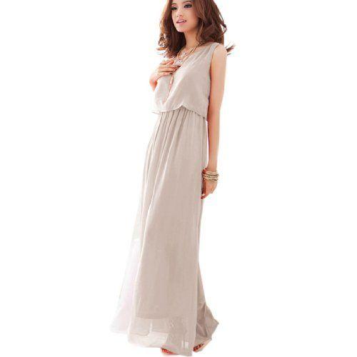 2014 Modell Damen Chiffon Kleid Vers. Farbe Strandkleid Fashion ...