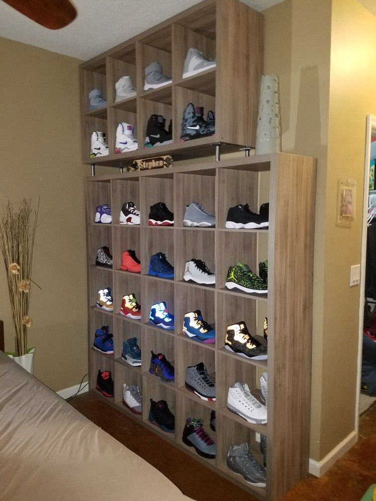 Ikea kallax shelves are just perfect for your shoe display  sneakerhead   jordans  nikeair 39003a1d7a99