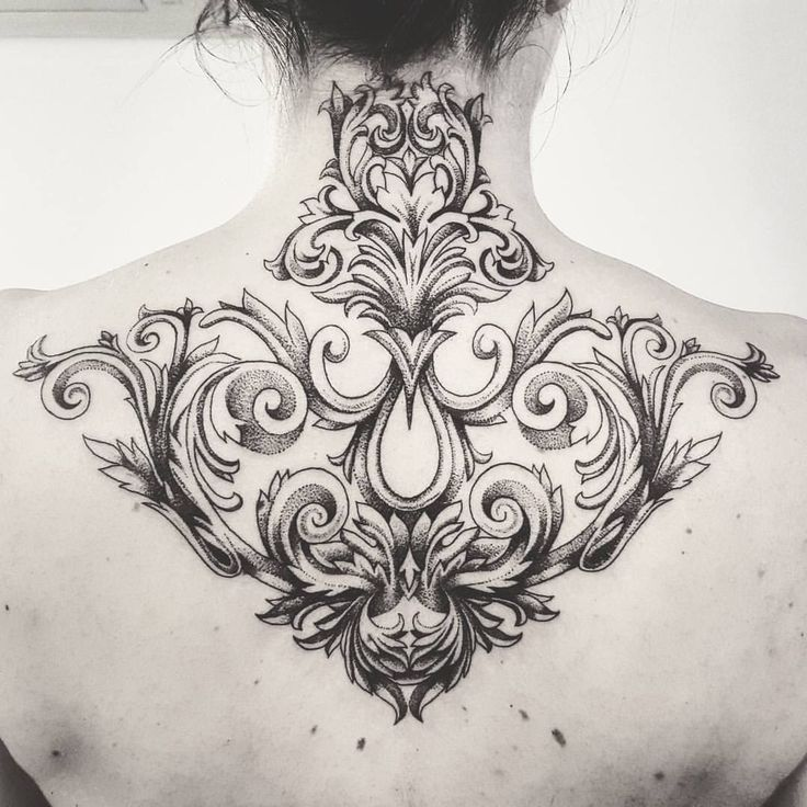 039d479db872b2f2e1945430b227dd5c Tattoo Baroque Lyon France Jpg 736 736 Baroque Tattoo Filigree Tattoo Neck Tattoo
