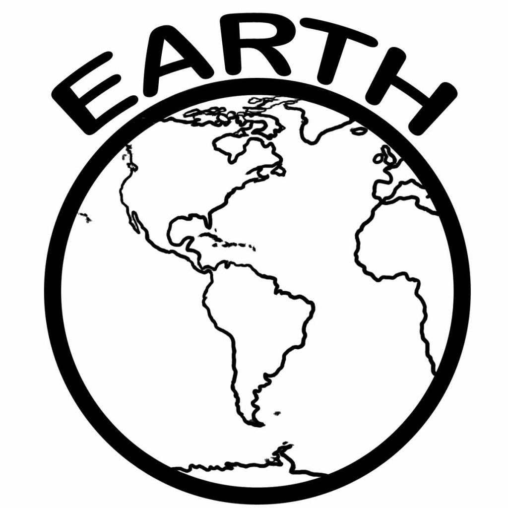 Earth Coloring Pages For Kids
