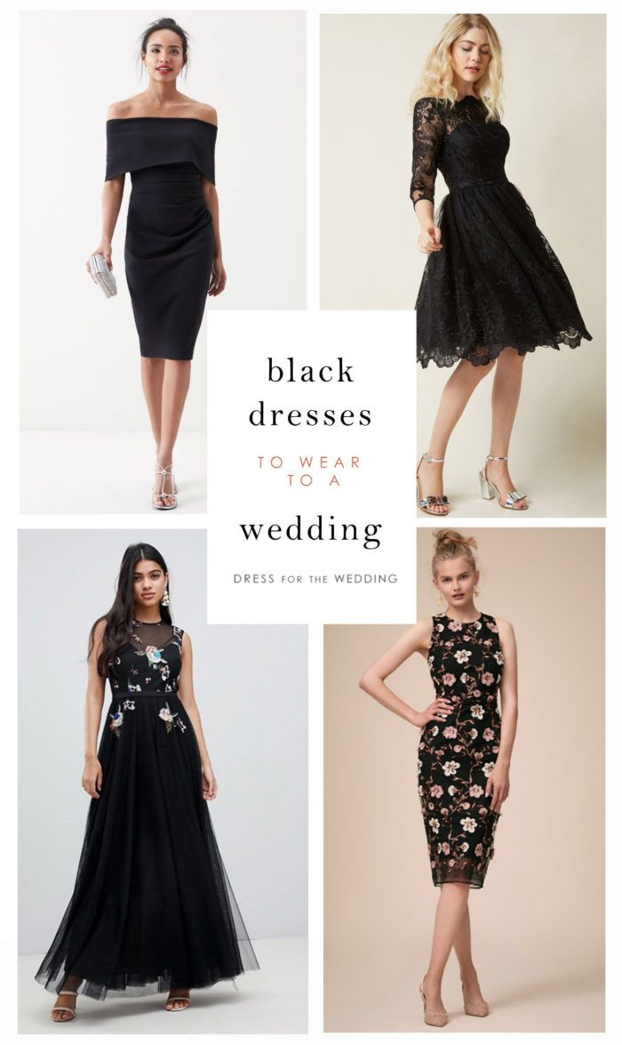 Black dresses for wedding  Black Dresses  Wedding Guest Dresses  Pinterest  Dresses Black