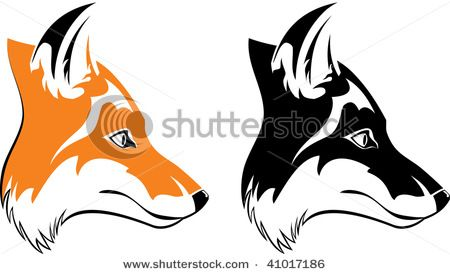 10++ Fox head clipart black and white information