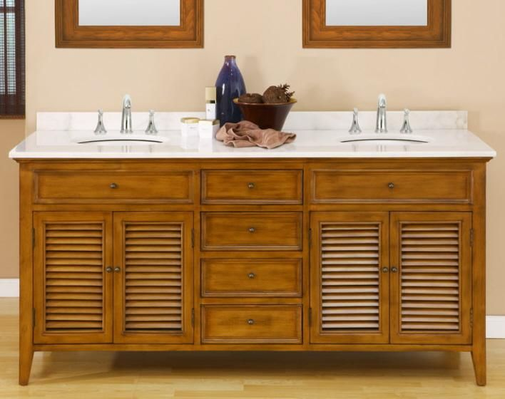 Daytona Double 70 Inch Oak Traditional Bath Vanity Restoration