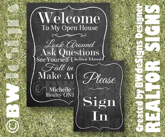 Printed REALTOR Open House Sign Set- Real Estate Signs- FOR SALE ...