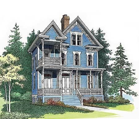 Plan 81196w In 2021 Victorian House Plans Queen Anne House House Plans