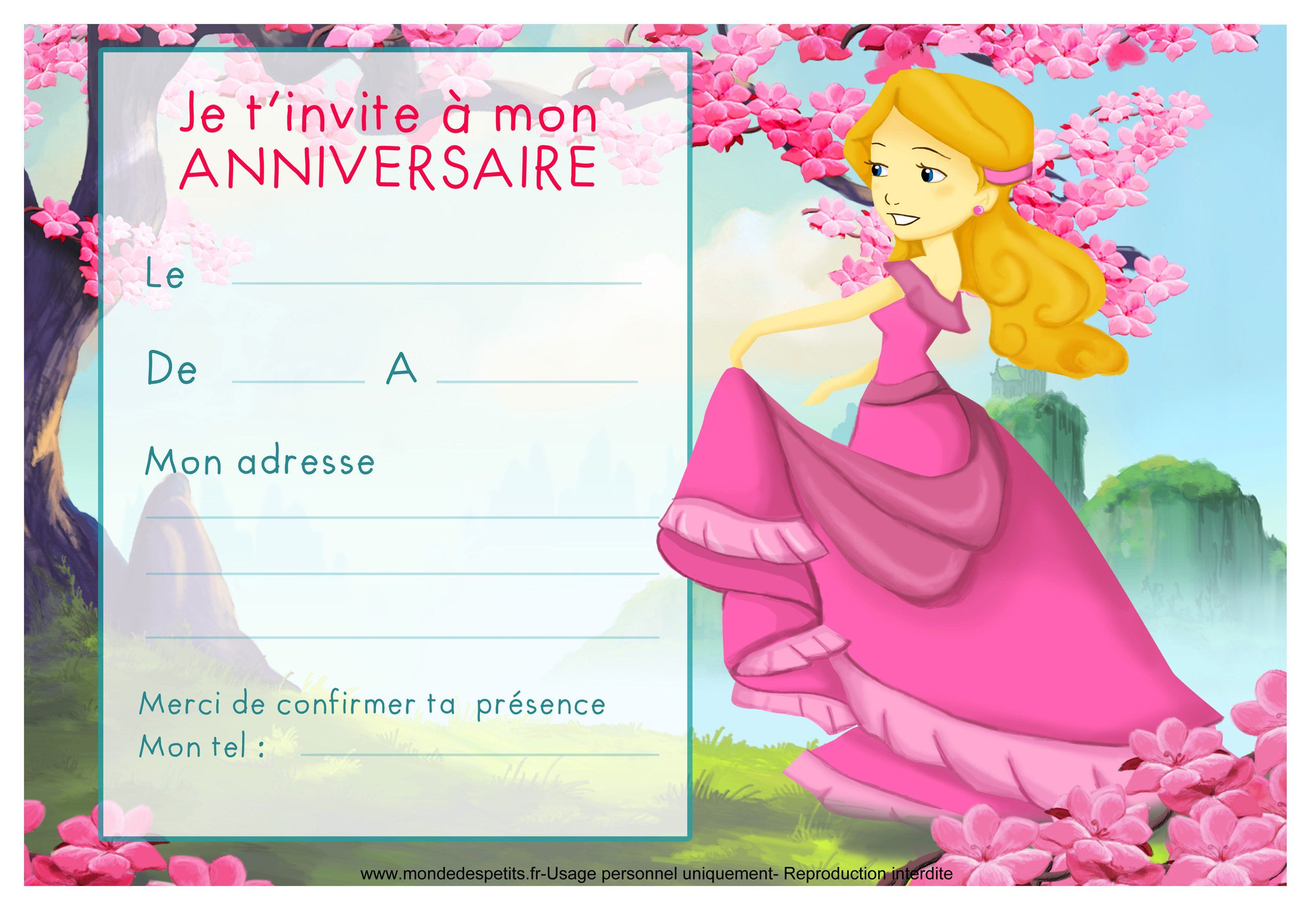 Sehr Cartes Invitation Anniversaire à Imprimer : Cartes Invitation  JK35