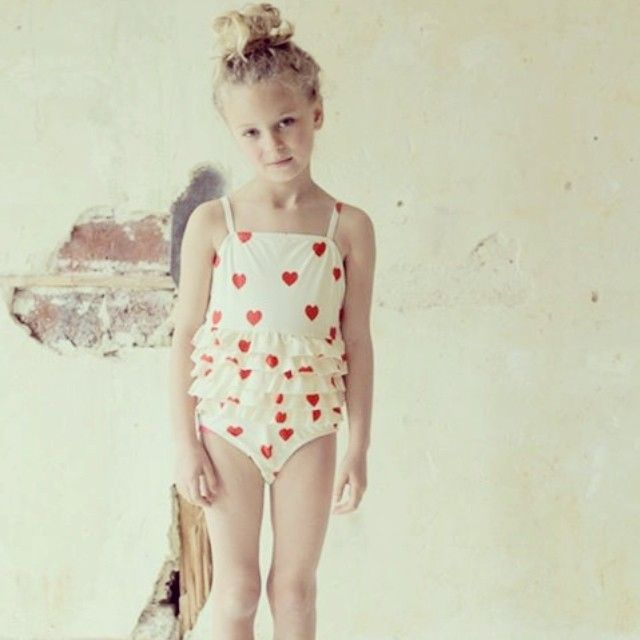 SS13 Frill Heart Swimsuit #minirodini