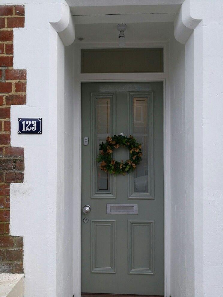 Front door in Farrow and Ball Pigeon paint Oxford. & Front door in Farrow and Ball Pigeon paint Oxford.   front doors ... Pezcame.Com