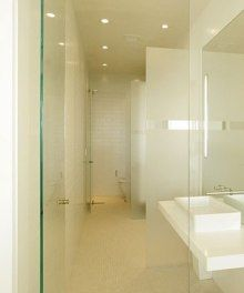 owner must be very like pure white. | narrow bathroom