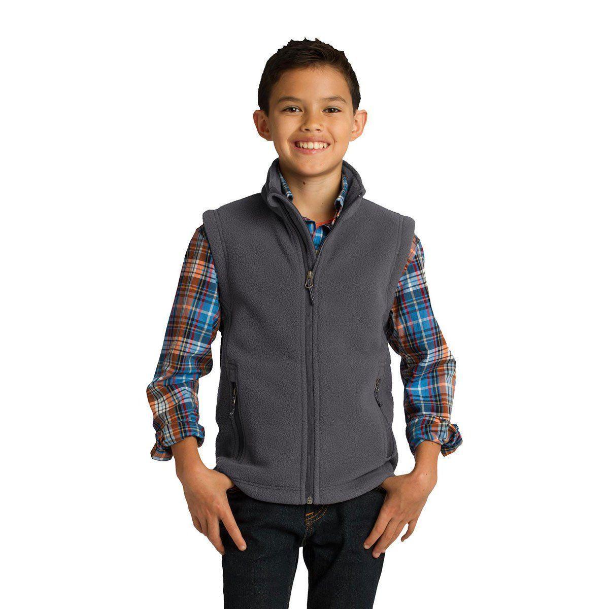 Gray Small Port Authority Youth Value Fleece Vest