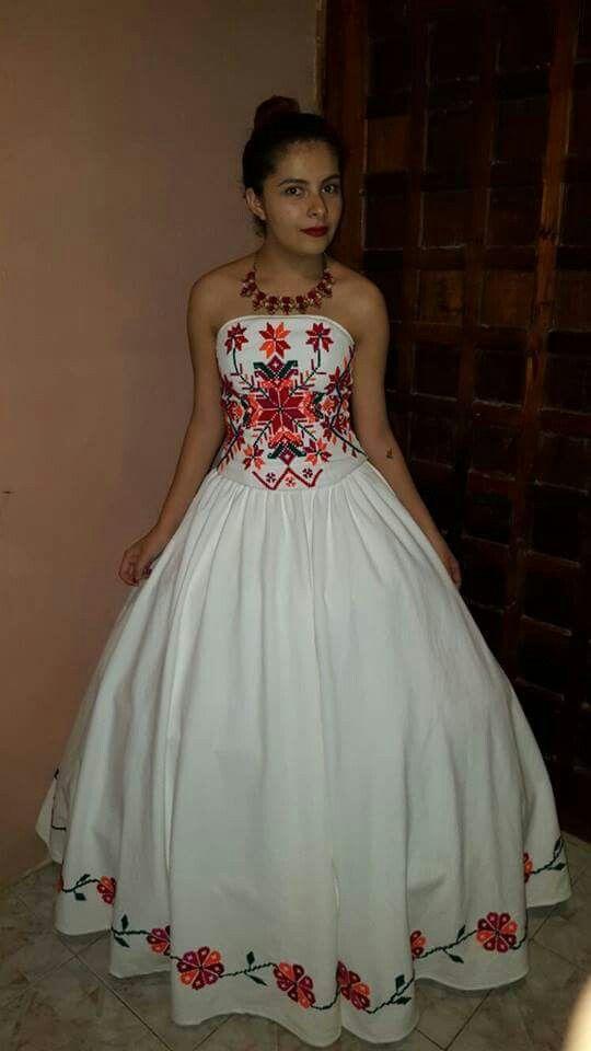 Mexicanos Para Bordados De Novia Vestidos Manta Qugsmpzv